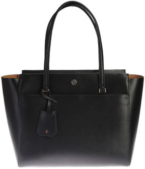 Tory Burch Leather Parker Tote - BLACK - STYLE