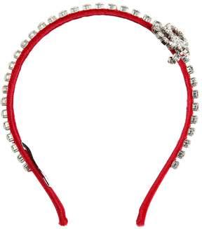 Simonetta Crystal Embellished Velvet Headband
