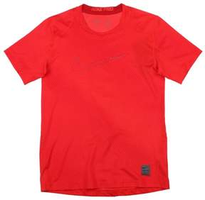 Nike Big Boys' (8-20) Cool Fitted Allover Print Training Shirt-Red-Small