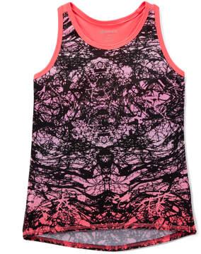 Gaiam Pink Abstract Lotus Chibori Tank - Girls