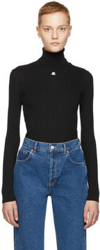Courreges Black Rib Turtleneck