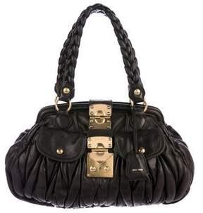 Miu Miu Matelassé Frame Bag