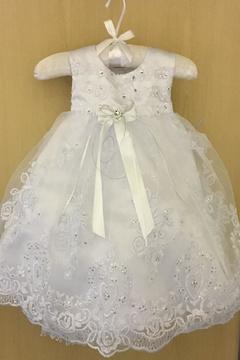No Name Embellished Baptism Dress
