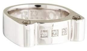 Charriol Sterling Silver Diamond Ring
