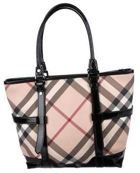 Burberry Beige Supernova Check Tote