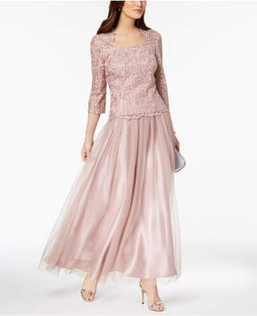 Alex Evenings 2-Pc. Embroidered Gown