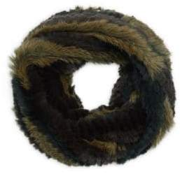 Jocelyn Hollywood Rabbit Fur Infinity Scarf