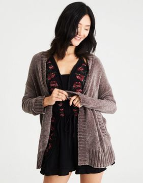 American Eagle Outfitters AE Slouchy Chenille Cardigan