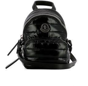 Black Fabric Shoulder Bag