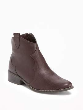 Old Navy Heeled Western Ankle Boots for Girls