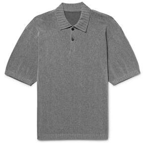 Issey Miyake Slim-Fit Knitted Polo Shirt