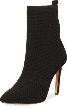 Neiman Marcus Lark Knit Perforated Bootie