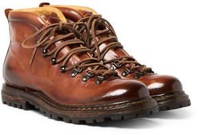 Officine Creative Kontra Burnished-Leather Boots