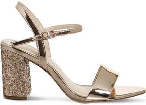 Office Millionaire glitter-heel metallic sandals