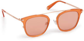 Henri Bendel Evan Square Sunglasses