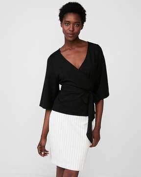 Express Tie Waist Kimono Sleeve Blouse