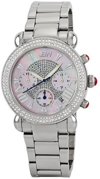 JBW Victory Chronograph Diamond Mother of Pearl Dial Steel Ladies Watch