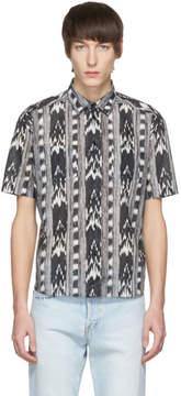 Saint Laurent Black and White Ikat Shirt