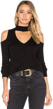 Central Park West Baton Rouge Cold Shoulder Turtleneck Sweater