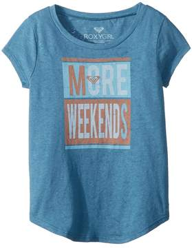 Roxy Kids More Weekends Fashion Crew Top Girl's T Shirt