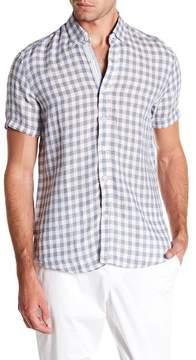 Report Collection Linen Short Sleeve Slim Fit Shirt