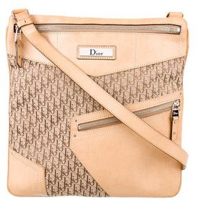 Christian Dior Leather-Trimmed Diorissimo Bag