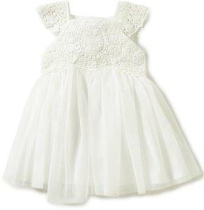 Edgehill Collection Little Girls 2T-4T Crochet Bow-Back Dress