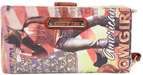 Women's Nicole Lee Cowgirl Flag Print Wallet Collection
