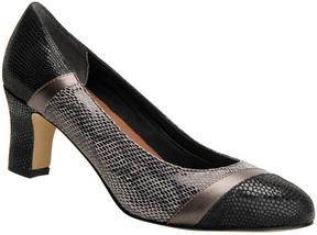 Ros Hommerson Black & Silver Python Vanessa Leather Pump - Women