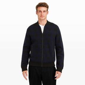 Club Monaco Buffalo Check Zip Sweater