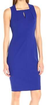 Calvin Klein Women's Keyhole Crepe Sheath Dress (14, Ultramarine)