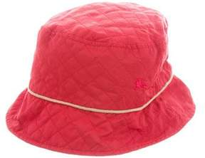 Burberry Girls' Quilted Bucket Hat