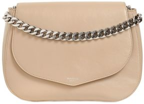 Medium Leather Shoulder Bag W/ Chain