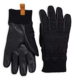 UGG Leather & Wool Smart Glove