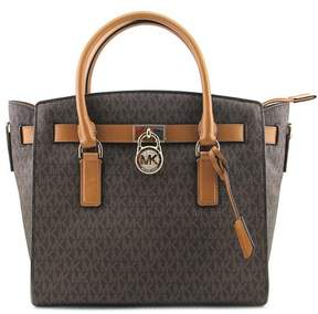 MICHAEL Michael Kors Hamilton Women Brown Satchel - BROWN - STYLE