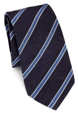 Ralph Lauren Sueded Super Repp Stripe Tie