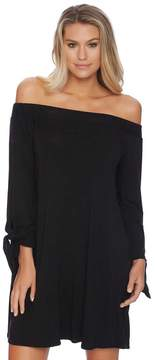 Luxe by Lisa Vogel Cold Shoulder Tie Sleeve Dress