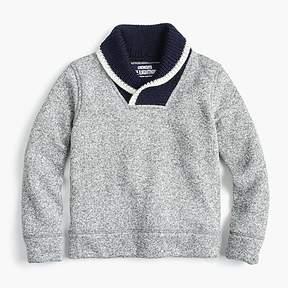 J.Crew Boys' Summit fleece shawl-collar popover sweater
