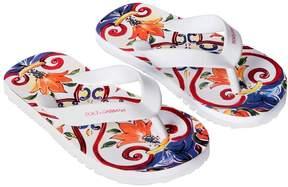 Dolce & Gabbana Maiolica Printed Rubber Flip Flops