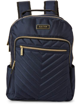 Kenneth Cole Reaction Navy Chevron Quilted Backpack