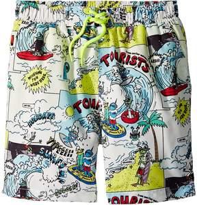 Stella McCartney Taylor Cartoon Print Swim Shorts Boy's Swimwear