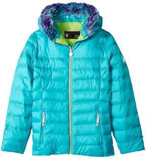 Spyder Timeless Hoodie Faux Fur Down Jacket Girl's Coat