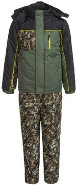 iXtreme Printed Camo Sleeve Snowsuit Set - Insulated (For Little Boys)