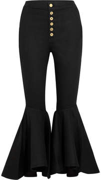 Ellery Hysteria Cropped High-rise Flared Jeans - Black