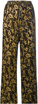 Aries straight-leg patterned trousers