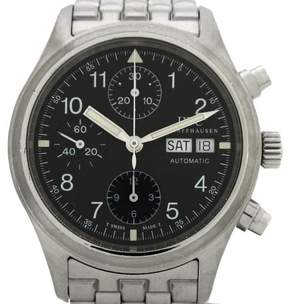 IWC Mechanical Finger Chronograph Stainless Steel Automatic 39mm Mens Watch