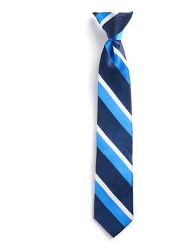 Chaps Boys 4-20 Blue Striped Clip-On Tie
