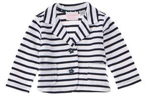 Chicco Girls' White & Blue Striped Jacket.
