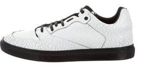 Balenciaga Crack Leather Low-Top Sneakers w/ Tags