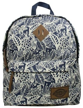 Dickies® Printed Classic Canvas Backpack Handbag with Front Zip Pocket - Navy